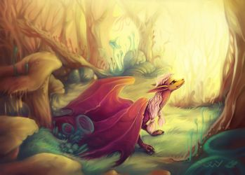 Tiamat the dragon by TwyMouse