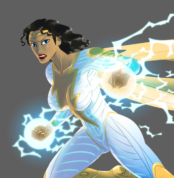 Thunder Woman - WIP by pyrasterran