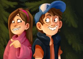 Gravity falls by QueenOfTheAntz