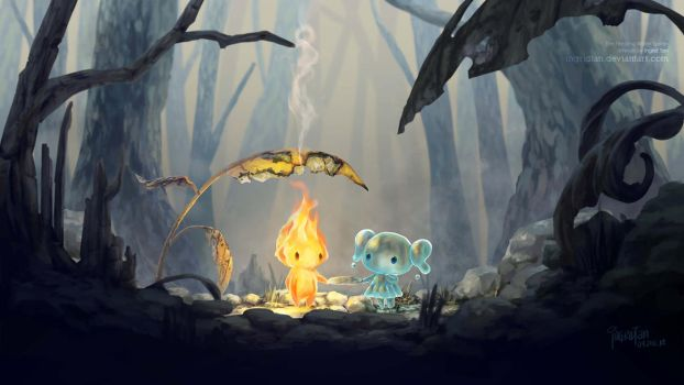 The Fire and Water Sprites by IngridTan