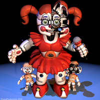 Circus Baby Extra Render - [FNaF SL Blender] by ChuizaProductions