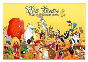 Mel Blanc, Man of a thousand voices by raggyrabbit94