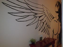 Original - Angel on the Wall - closer view by virago-rs