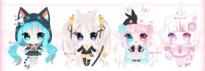 Adoptables 90 - Kemonomimi [Closed] by Shiina-Yuki