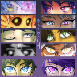 Fall in Love with Eyes by AniDrewit