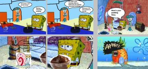 SpongeBob and Jenny: Chocolate Pudding by cartoonfanboyone