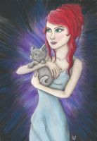 The Lady with the Cat by VictoriaThorpe
