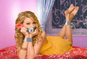 Taylor Swift Tape Bound and Gagged by Goldy0123