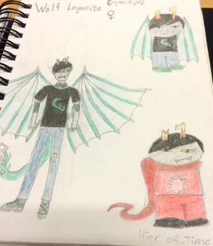 Homestuck OC Wolf Loganite by howl99