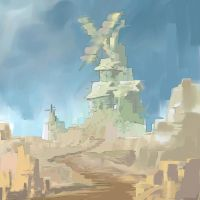 Ruined Windmill Quick Paint by MattJWood
