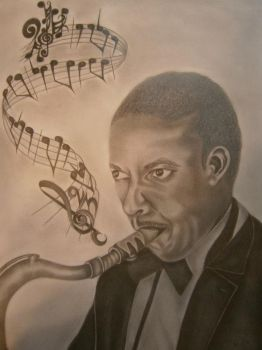 Pencil portrait by AngelE85