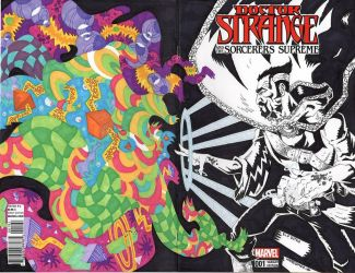 DOCTOR STRANGE sketch cover by drawhard