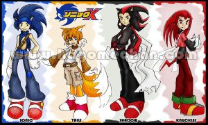 Sonic X: Boys Manga Style by I-heart-Link