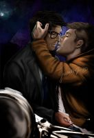Dean Cas Kiss, Twist and Shout by Franciswill