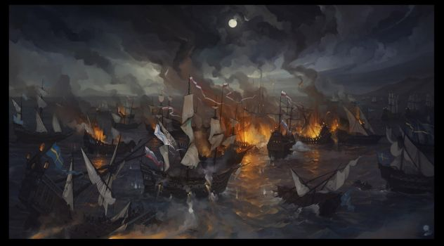The Battle of Viborg Bay by haryarti