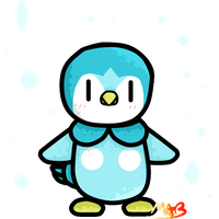 Shiny Piplup Gif! (Has Speedpaint) by TheDrawingMorgs