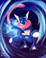 Pokemon X/Y - Greninja by DawnbreakerDESIGNS