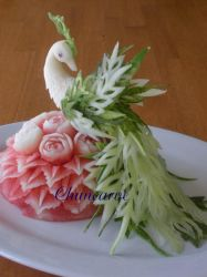 Melon Flower and Peacock Bouqu by Chuncarv