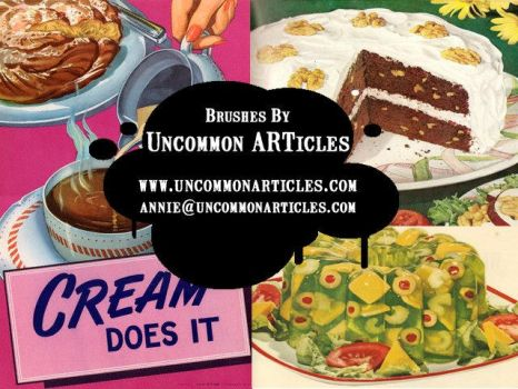 Kitschy Kitchen Cookbooks by UncommonARTicles