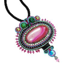 Bollywood Soutache pendant necklace by Britex55