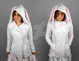 Mod Lolita Jacket Hoodie with Rabbit Ears by SewDesuNe