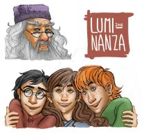 Harry Potter Bookmarks by Luminanza