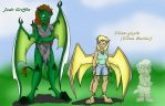 Ulisa and Jade Griffin in Gargoyle Form by UlisaBarbic