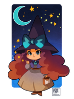 Little witch - Gift to Audrey Molinatti by Willow-San