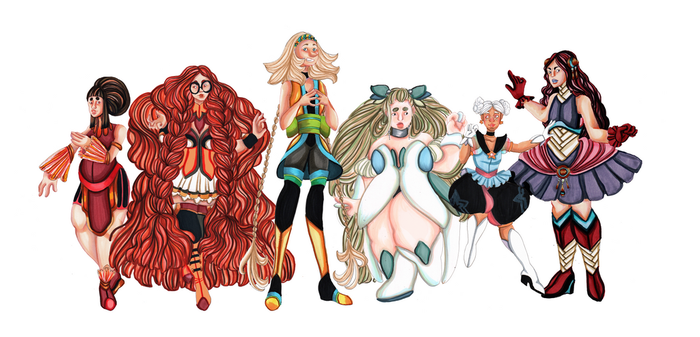 Magical Girl Group - Heaven's Code by Concepts-by-Kae