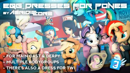 [DL] Equestria Girls Dresses for Ponies by AeridicCore