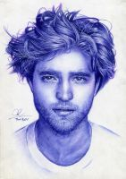 Robert Pattinson- ballpoint pen drawing by Thanh-KaMi