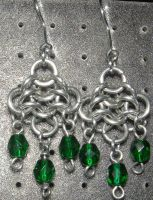 Chainmaille Earring 44 by Des804
