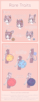 [BloomPuffs] Rarity Traits reference sheet by TheStevieBoy