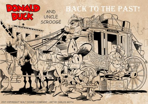Donald Duck and Uncle Scrooge come back in time! by CarlosMota