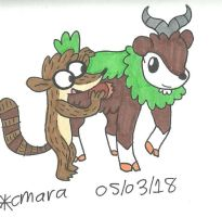 Rigby gives his Skiddo a good brushing