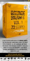 Grunge brushes Vol.1 - 72 stripes by iorkdesign