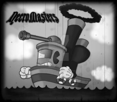 NecroMasters - Card Art - Inkwell Tugboat Tank by PlayboyVampire