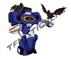 Soundwave and his birbs sticker by LyricaBelachium
