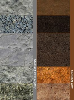 Stone/Rock and Soil Textures by BCordeiro