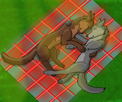 Cuddles by Wolf--Prime