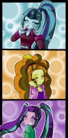 Dazzlings- Sincere Smile by NekoJackun