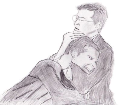 Stephen Colbert And Steve Carell by SylvesterMcCoyFan