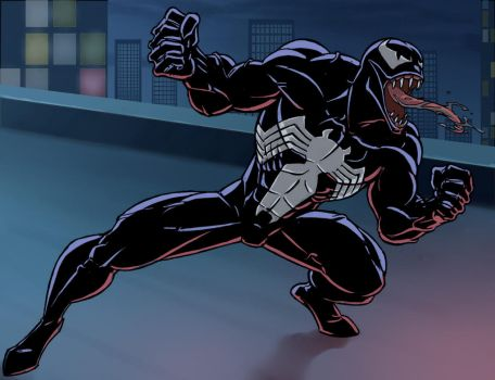 spider man the animated series venom by stalnososkoviy