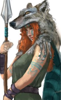 Boudica by DougBurbridgeArt