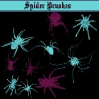 Spider Brushes by dollieflesh-stock