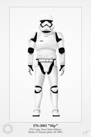 First Order Stormtrooper - FN-2003 by graphicamechanica