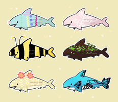 Shark Collab Adopts 2! (OPEN -Price reduced!) by spaded-square