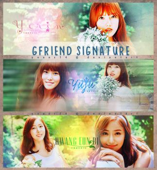 SinB, Yerin and Yuju GFriend Signature by Yoonz14