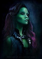 Gamora Guardians of the Galaxy by MeduZZa13