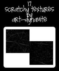17 Photoshop Scratchy Textures by art-dynamite